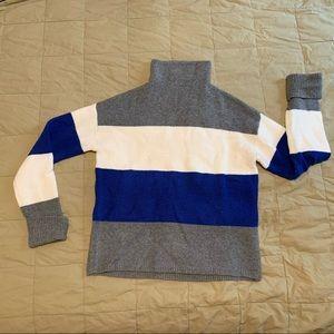 C&C California blue/grey/white striped sweater